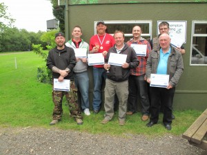 Colin Tite and friends enjoying a 2nd visit to the shooting ground - June 2012