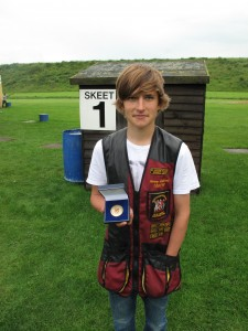 Junior class Winner, Henry Collins, scored 92/100 at the East Midlands Skeet Doubles held at Northampton on July 8th 2012