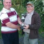 Neil kirton winning the Mick Henley sporting jug